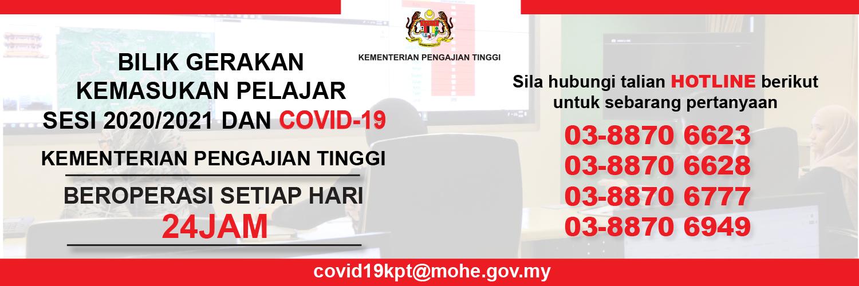 Bilik Gerakan Covid-19 KPT 24 Jam